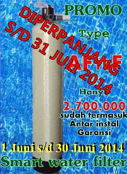 promo Pasang filter penyaring air Juli 2014