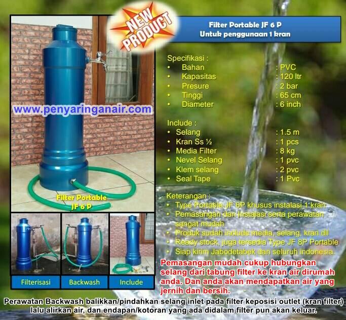 Filter portable 6 Inci JF6p