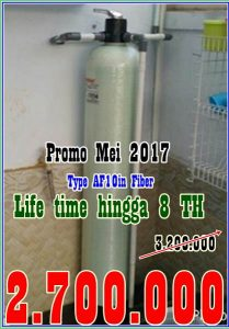Promo Pemasangan Filter air Bulan Mei 2017