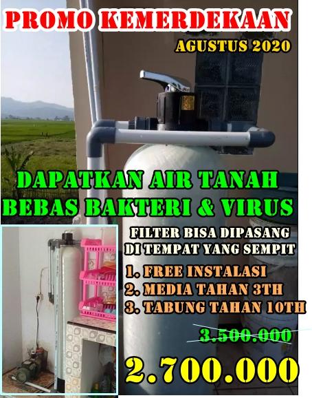 Promo pasang filter penyaring air jatra bulan agustus 2020